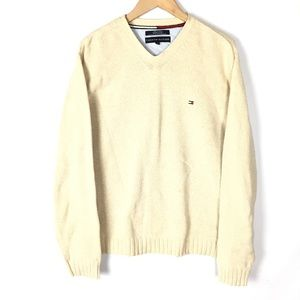 Tommy Hilfiger chunky knit preppy sweater cardigan